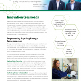 Innovation Crossroads Fact Sheet