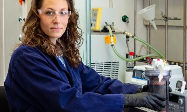 Megan O'Connor in Lab